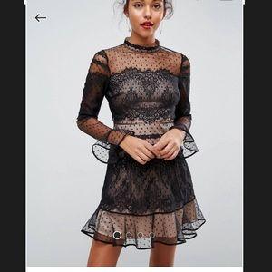 ASOS lace dobby mini dress.
